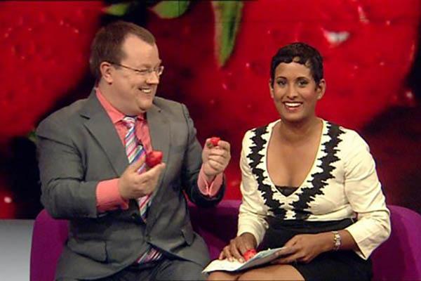 Breakfast on BBC1 Declan Curry and Naga Munchetty