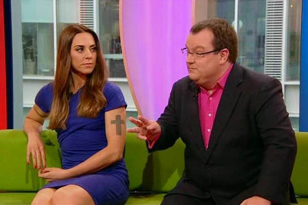 Declan Curry with Mel C