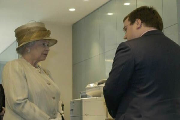 Declan Curry with the Queen